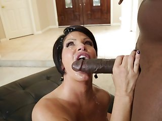 Dude with giant black pole Lexington Steele is penetrating tall white mommy Shay Fox and cumming on her face