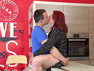 Redhead Elonka simply loves being pounded by younger studs