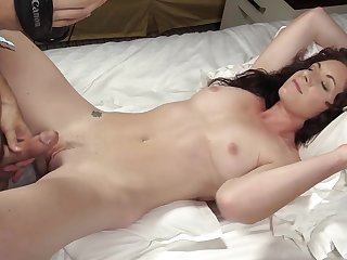 Curly hair college beauty sucks cock and fucks eagerly