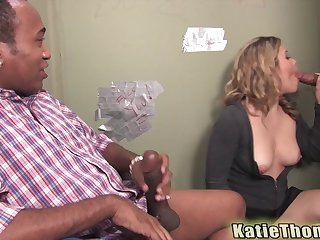 Amazing gloryhole session of the sexy senorita Katie Thomas