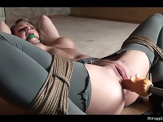 Ally Bound Whipped Dildoed Vibed Machine-Fucked